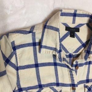 J. Crew Plaid Flannel Shirt